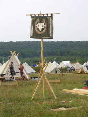 Banner vom Dorf der Stämme - Drachenfest 2010