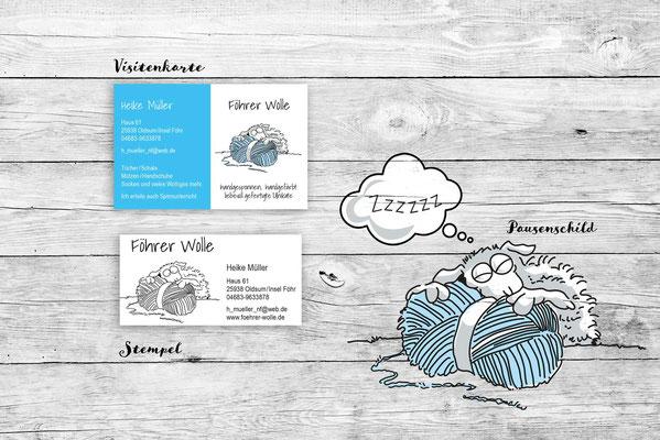 Föhrer Wolle Logo/Geschäftsausstattung