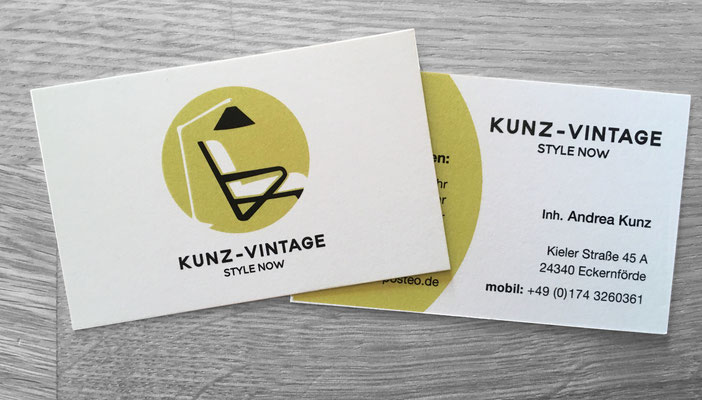 Kunz Vintage Logo/Geschäftsausstattung