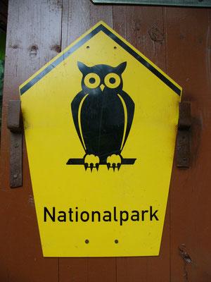 Der Uhu dient als als eines der Zeichen für Nationalparks.