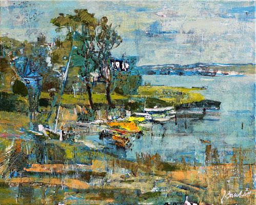 Bodden, 2011, Mischtechnik auf Leinwand, 40 x 50 cm