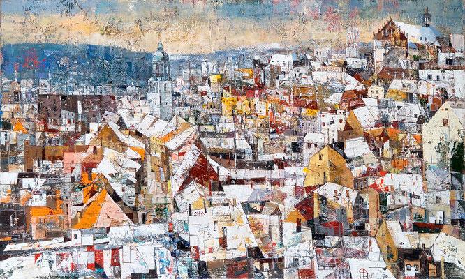 Meißen, 2008, Mischtechnik auf Leinwand, 60 x 100 cm