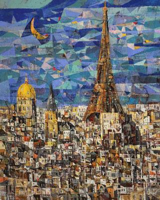 Paris, 2018, Mischtechnik auf Leinwand, 100 x 80 cm
