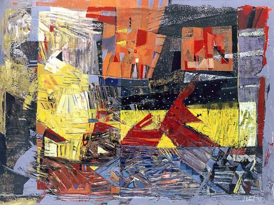 Am wilden Saum der Erde, 2004, Mischtechnik auf Leinwand, 60 x 80 cm