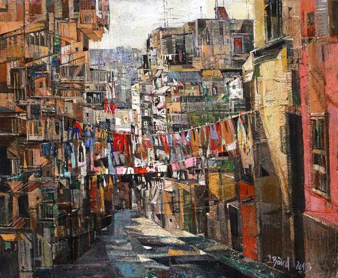 Neapel, 2013, Mischtechnik auf Leinwand, 50 x 60 cm