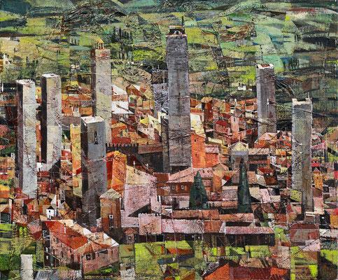 San Gimignano, 2011, Mischtechnik auf Leinwand, 50 x 60 cm