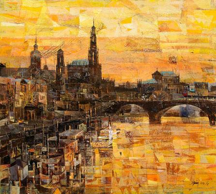 Dresden, 2010, Mischtechnik auf Leinwand, 90 x 100 cm