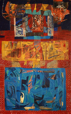Seeteufel, 2008, Mischtechnik auf Leinwand, 160 x 100 cm