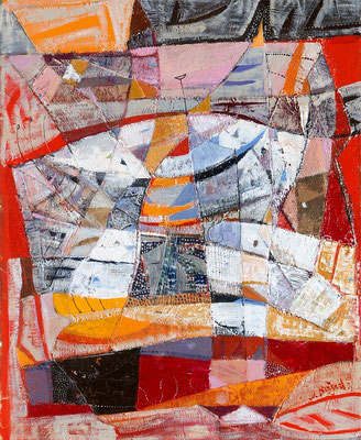 Rotes Meer, 2007, Mischtechnik auf Leinwand, 60 x 50 cm