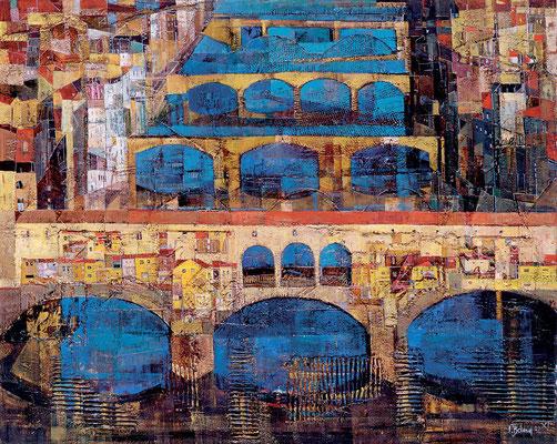 Ponte Vecchio, 2002, Mischtechnik auf Leinwand, 80 x 100 cm