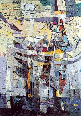 Kleiner Wellenreiter, 1999, Acryl, Öl auf Leinwand, 120 x 100 cm