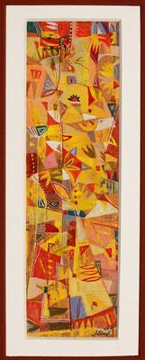 O.T., 2012, Tempera auf Papier, 24 x 7 cm