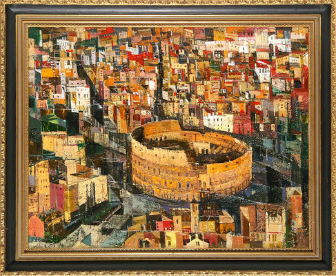 Kolosseum, 2008, Mischtechnik auf Leinwand, 40 x 50 cm