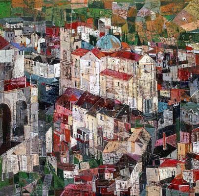 Stilo, 2007, Mischtechnik auf Leinwand, 50 x 50 cm