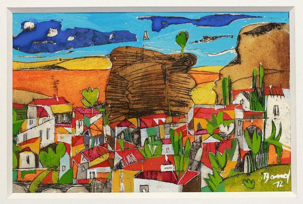Corleone, Radierung, koloriert, 10 x 15 cm