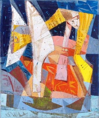 Loreley, 2009, Mischtechnik auf Leinwand, 60 x 50 cm