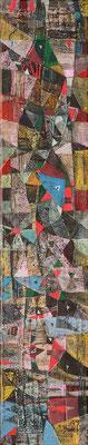 Voliere, 2019, Mischtechnik auf Leinwand, 50 x 10 cm