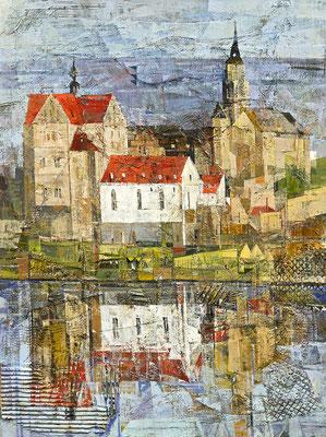 Seeburg, 2010, Mischtechnik auf Leinwand, 80 x 60 cm