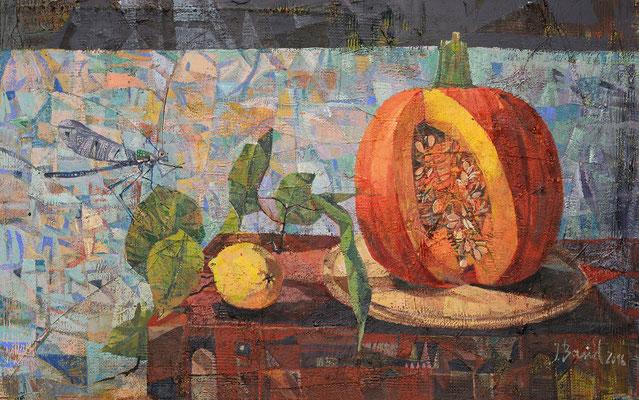 Herbst, 2016, Mischtechnik auf Hartfaser, 51 x 81 cm