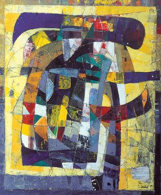 Asiatischer Tag, 1999, Öl auf Leinwand, 100 x 80 cm