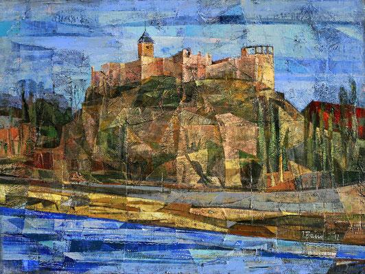 Burg Giebichenstein, 2012, Mischtechnik auf Leinwand, 60 x 80 cm