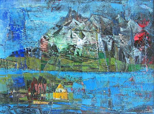 Patagonien, 2004, Mischtechnik auf Leinwand, 30 x 40 cm