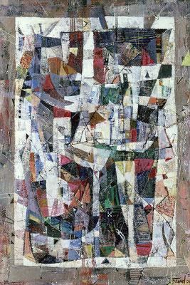 Sommer in Calafate, 2004, Mischtechnik auf Hartfaser, 83 x 60 cm