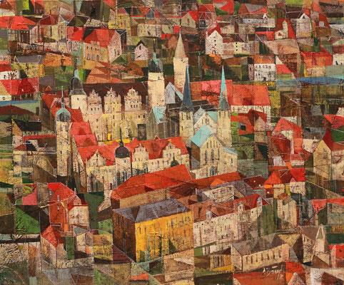 Schloß Merseburg, 2012, Mischtechnik auf Leinwand, 50 x 60 cm