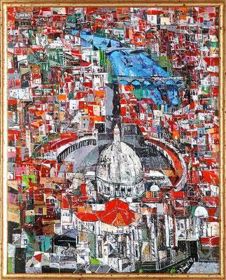 Rom, 2008, Mischtechnik auf Leinwand, 50 x 40 cm