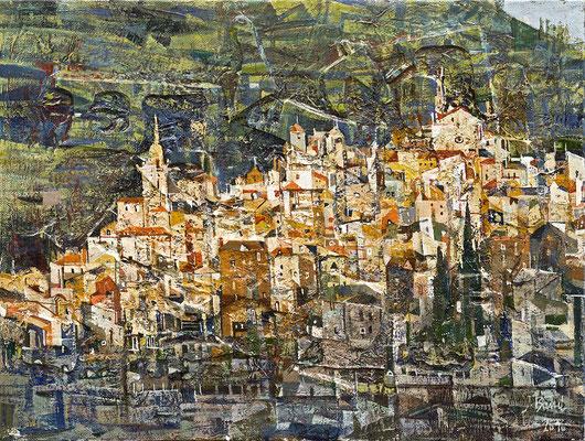 Valldemossa, 2010, Mischtechnik auf Leinwand, 30 x 40 cm