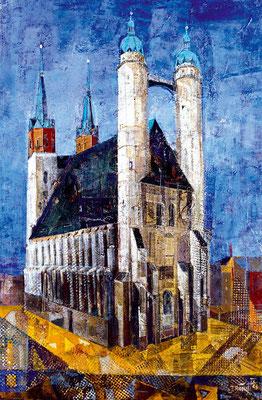 Marktkirche, 2004, Mischtechnik auf Leinwand, 120 x 80 cm