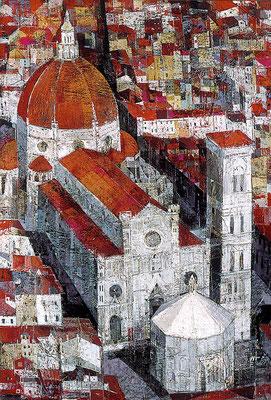Florenz, 1998, Mischtechnik auf Leinwand, 80 x 60 cm