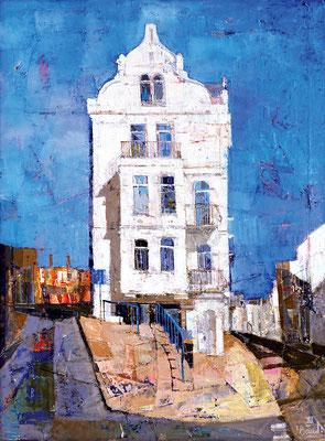 Weißes Haus, 2004, Mischtechnik, Öl auf Leinwand, 70 x 50 cm