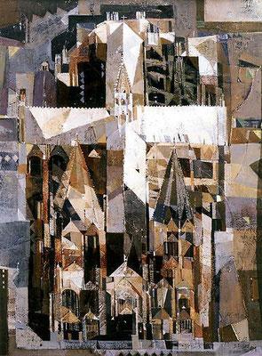 Kölner Dom, 2001, Mischtechnik auf Hartfaser, 90 x 70 cm
