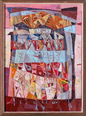 Pavillon, 2009, Mischtechnik auf Leinwand, 70 x 50 cm