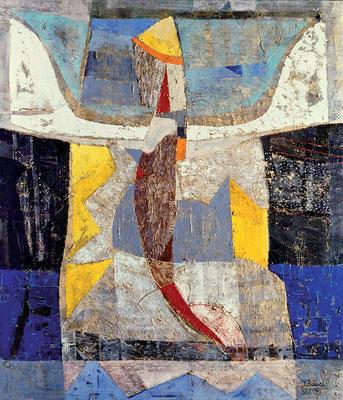 Himmelfahrt, 2004, Mischtechnik auf Leinwand, 160 x 140 cm