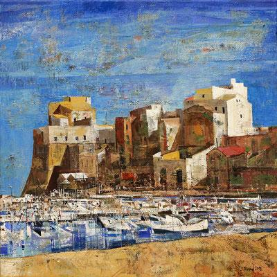 Castellammare del Golfo, 2012, Mischtechnik auf Leinwand, 50 x 50 cm