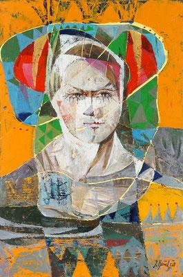 Harlekin, 2008, Mischtechnik auf Leinwand, 60 x 40 cm