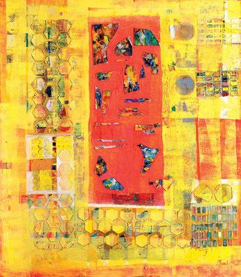 Mango, 2002, Mischtechnik auf Leinwand, 160 x 140 cm