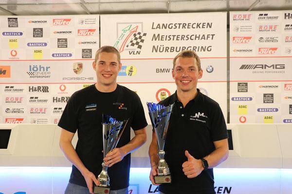 Strahlende Sieger: Moritz Oestreich & Niklas Meisenzahl (v. l.)
