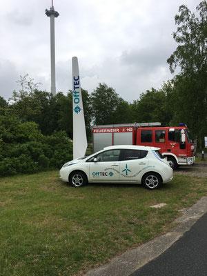 Der Nissan Leaf auf dem GreenTEC Campus