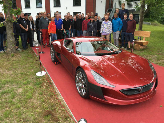 Der Rimac Concept_One bei der 6. Nordeuropäischen E-Mobil Rallye