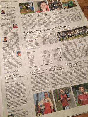 Sportlerwahl des Jahres 2015 in den Husumer Nachrichten