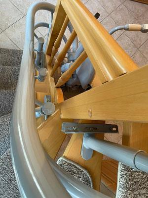 Klemmbefestigung Treppenlift