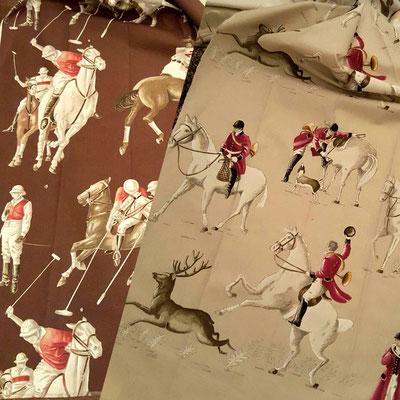 RStoffauswahl Reiterstoff Pferdestoff Polospieler