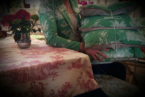 Kollektion 2017 Tischdecke Jacket Sitzkissen Gartenstuhlauflagen
