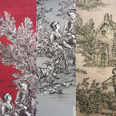 Stoffauswahl Toile de Jouy Stoffe anders