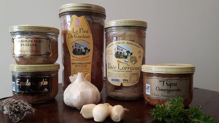 La gamme de produits cuisinés