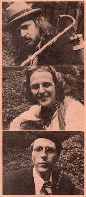 Portraits: Lutz Götzfried, Reiner Lenz un Kurt W. Sänger