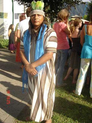 Timoteo vom Volk der Asháninka Schamane aus dem Amazonasgebiet, Peru